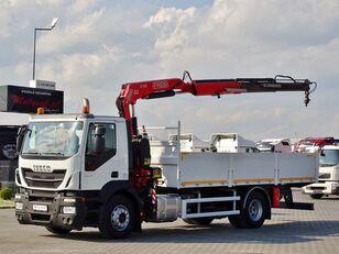 бортовой грузовик IVECO STRALIS 310 / 4X2 / BOX - 6,2 M + CRANE FASSI F155 / RADIO COMMA