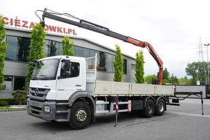 бортовой грузовик MERCEDES-BENZ Axor 2633 , EEV , 6X4 , BOX 7,5m , FASSI 10m / 6.000kg , REMOTE