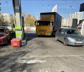 грузовик штора КАМАЗ 4308 + прицеп штора