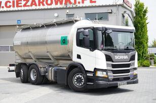 молоковоз SCANIA P410 , E6 , 6X2 , 20.000km ! ! ! , 2 units , steer/lift axle , 3