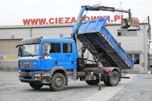 самосвал MAN TGM 18.240 , DOKKA 7 seats , A/C , tipper + crane PK , grapple +