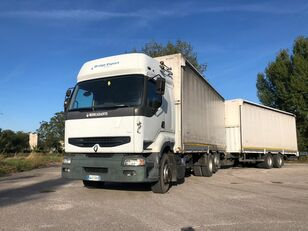 тентованный грузовик RENAULT PREMIUM 420 DCI + biga Omar + rimorchio centinato