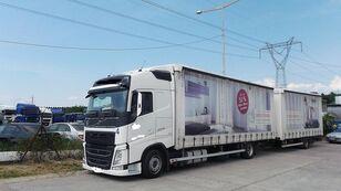 тентованный грузовик VOLVO fh 420 EURO 6 + прицеп тентованный