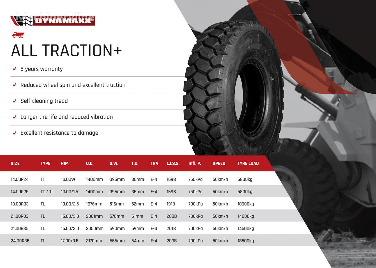 новая шина для карьерной техники DYNAMAXX ALL TRACTION+ E4 169B TT
